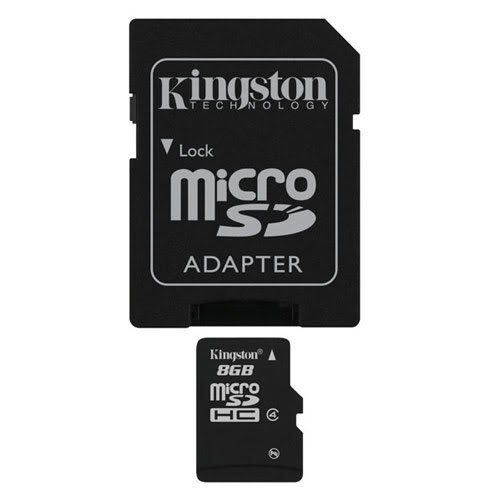 Professional Kingston MicroSDHC 8GB (8 Gigabyte) Card for BlackBerry Impression (SGH-a877) Phone with custom formatting and Standard SD Adapter. (SDHC Class 4 Certified) kingston microsdhc 8gb class 4