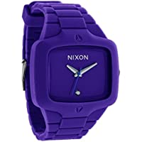 Nixon A139230 Silicone Quartz Men's Watch (Purple)