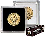 NEW BCW 2X2 COIN SNAP - SMALL DOLLAR - BLACK - PACK OF 25