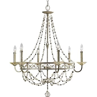 Thomasville By Progress P4443 34 Chanelle Antique Silver 6 Light Chandelier Ceiling Pendant Fixtures Home Improvement Sale Ambassador Flush878