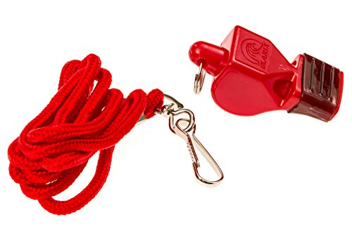 BLARIX Lifeguard Whistle and Lanyard Loudest pealess Whistles for Coach, Referee, Officials (Red and Red CMG) (Whistle With Lanyard compare prices)