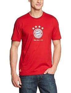 adidas Herren T-Shirt FC Bayern München Graphic Tee, University Red, S, Z29188