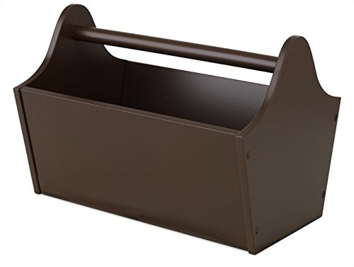 Cute Easy Carrying Toy Box Caddy, Toy Chest, Toy Storage Bin Containers And Organizer In Chocolate Brown For Kids Pet Toys - Children Home Box Units Solutions front-1028239