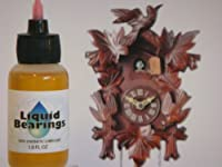 Liquid Bearings synthetic oil for Music, Cuckoo, & Black Forest clocks, restores frozen or sticky movements! from LiquidBearings
