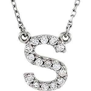 IceCarats Designer Jewelry 14K White Gold Diamond Necklace
