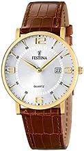 Comprar FESTINA F16478/3 - Reloj de caballero de cuarzo, correa de piel color marrón