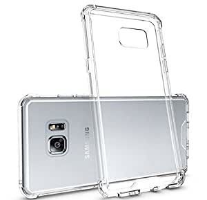 Bounceback Premium Crystal Clear Transparent Shockproof Hybrid Armor Case Cover for Samsung Galaxy Note 7