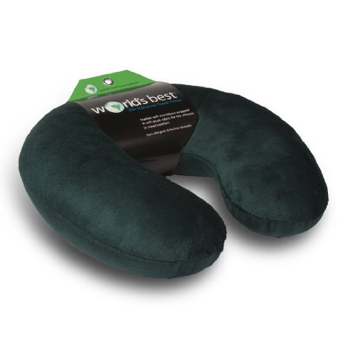 worlds-best-feather-soft-microfiber-neck-pillow-hunter-green