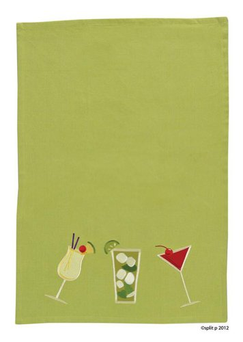 Split P Designs Kitchen Dish Towel, Cocktail