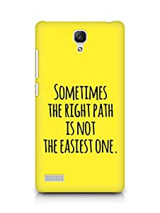 AMEZ the right path is not easy Back Cover For Xiaomi Redmi Note