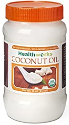 Healthworks Coconut Oil Organic Extra Virgin Cold Pressed, 16 Ounce