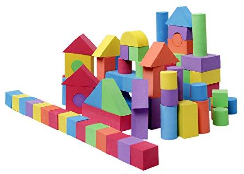 Viahart non toxic 100 piece eva big foam building blocks for Foam block house construction