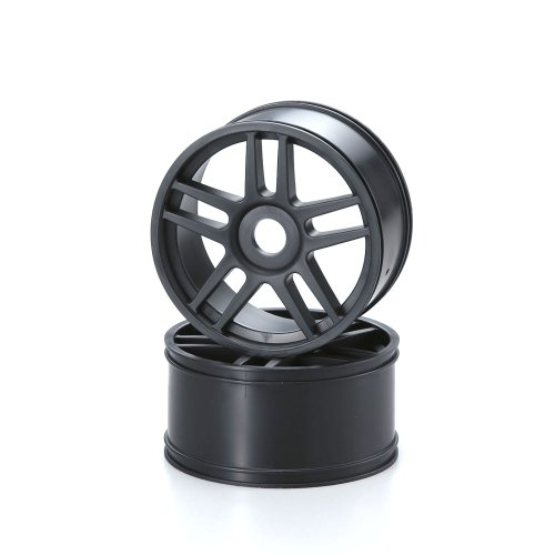 Kyosho 10-Spoke Wheel (2 Piece), Black