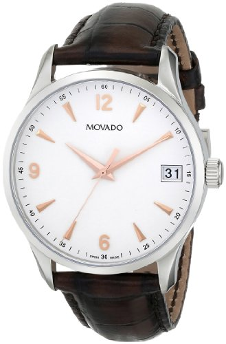 "Movado Men's 0606570 ""Circa"" Brown Leather Dress Watch"