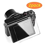 [2-Pack] Screen Protector Tempered Glass for Canon G7X Mark III - Ultra Thin Screen Protective Film for Camera Canon G7 X Mark iii G9X Mark II GX7 GX9