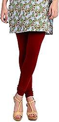 Anuze Fashions Maroon Cotton Lycra Ruby Design Legging