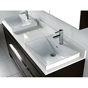 72 Vicenza Tempered Glass Countertop In Arctic White Home Improvement