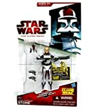 "Clone Commander Stone CW44 Star Wars Clone Wars Action Figurevon ""Hasbro"""