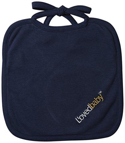 L'ovedbaby Unisex-Baby Newborn Organic Reversible Bib, Navy, one size