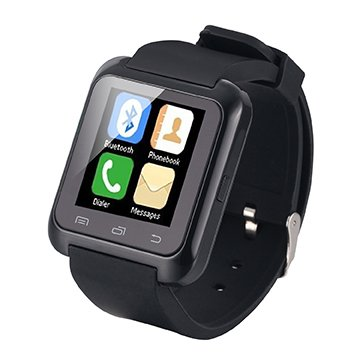 [Regalos de Navidad] EasySMX Bluetooth 4.0 Multi-idiomas Reloj Inteligente Smartwatch podómetro/ Monitor de sueño/ Alarma/ Calendario con la Pantalla Táctil Compatible con Android Smartphones como Samsung, HTC, Sony, Huawei (Negro)