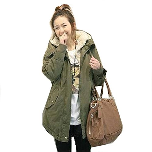 Win8Fong -  Cappotto  - Donna Army Green XL