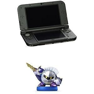 Nintendo 3DS XL Black + Meta Knight Amiibo