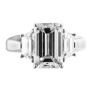 3 Carat Emerald Cut Diamond Engagement Ring