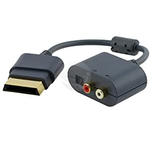 niceEshop RCA Audio Adapter Cable Compatible with XBOX 360 (Black,30cm)