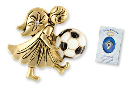 Soccer Angel Pin