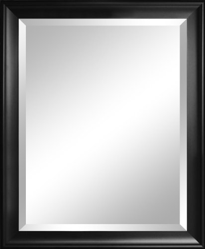 Alpine Mirror & Art Beveled Mirror, Contoured Black