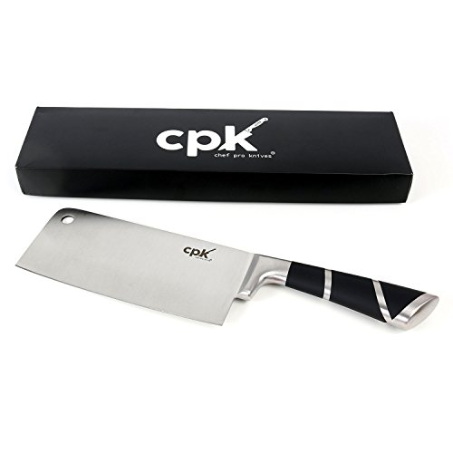 7-Inch Stainless-Steel- Meat Cleaver - Chopper - Butcher Knife - Multipurpose Vegetable Cutter/Chopper Professional Cleaver for Home Kitchen or Restaurant by CPK (Meat Box Cutter compare prices)