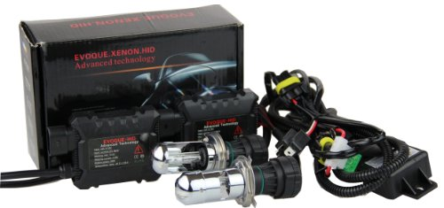Super Bright Car HID Bi-Xenon Dual Beam Telescopic Light (12V,35W) Headlight Conversion Kit -2 pcs of HID Slim Digital Ballasts and 2 pcs of H4/H4-3/HB2/9003 HID Bi-Xenon Hi/Lo high/low Bulbs/Lights/Lamps 4300K Sunlight White