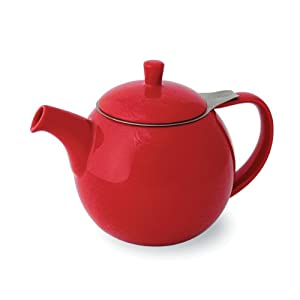 FORLIFE Curve 24-Ounce Teapot with Infuser, Red by FORLIFE