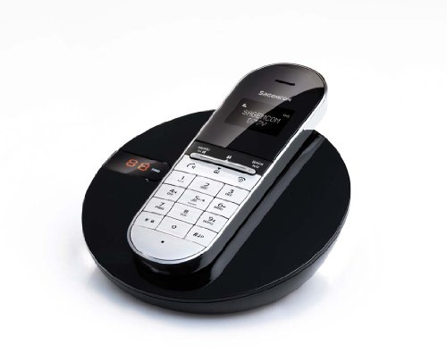 Sagemcom D77V Single DECT Cordless Telephone with Answering Machine - Black picture