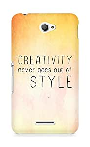 AMEZ creativity never goes out of style Back Cover For Sony Xperia E4