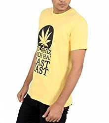 Younsters Choice Men's Cotton T-Shirt (YC-5832_Yellow_Large)