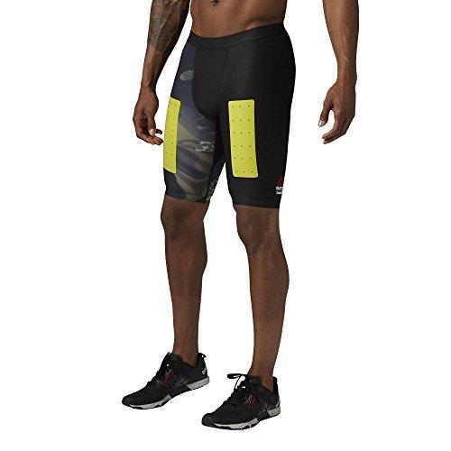 Pantaloncini da uomo compressione Reebok Crossfit PWR6, Canopy Green, M, AI1372