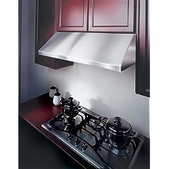 Kobe CH7930SQB 30-Inch Under Cabinet Stainless Steel Range Hood with 720 CFM Internal Blower Dishwasher Safe Baffle Filter
