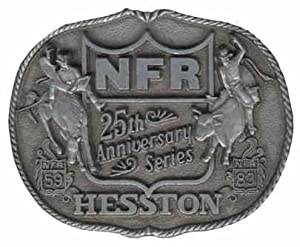 1983 Hesston National Finals Rodeo Belt Buckle -- 25th Anniversary of the NFR!