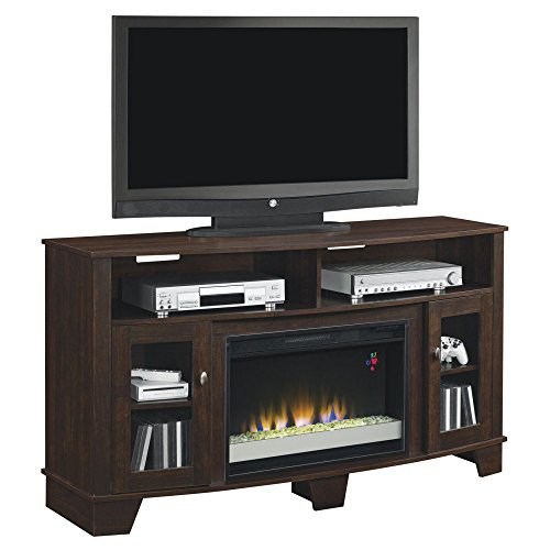 La Salle Media Mantel in Engineered Midnight Cherry 26MM4995-NC72 MANTEL ONLY