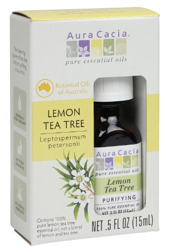 Aura Cacia Tea Tree Essential Oil, Lemon, 0.5 Fluid Ounce