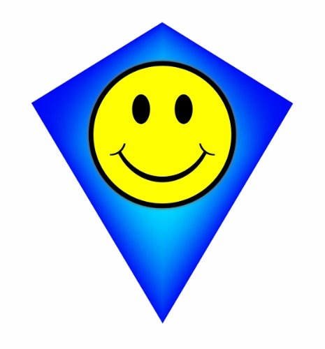 MicroDiamond Poly Kite: Happy Face