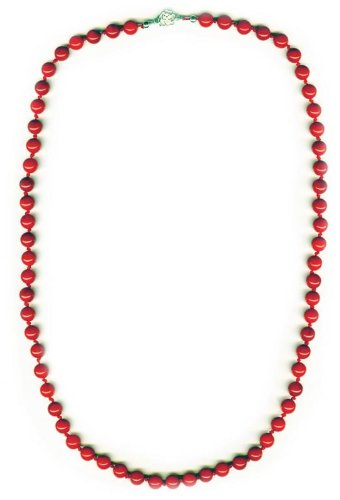 8mm Beads long Coral Necklace