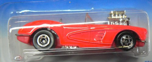 Hot Wheels 1995 Model Series #3 of 12 Cars '58 Corvette Coupe Pink with Basic Wheels #341