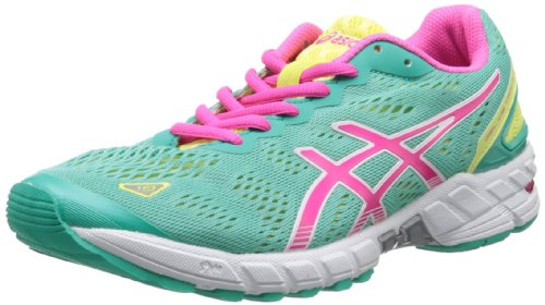 ASICS Women's Gel-DS Trainer 19 Running Shoe,Emerald/Hot Pink/Sunny Lime,8.5 M US