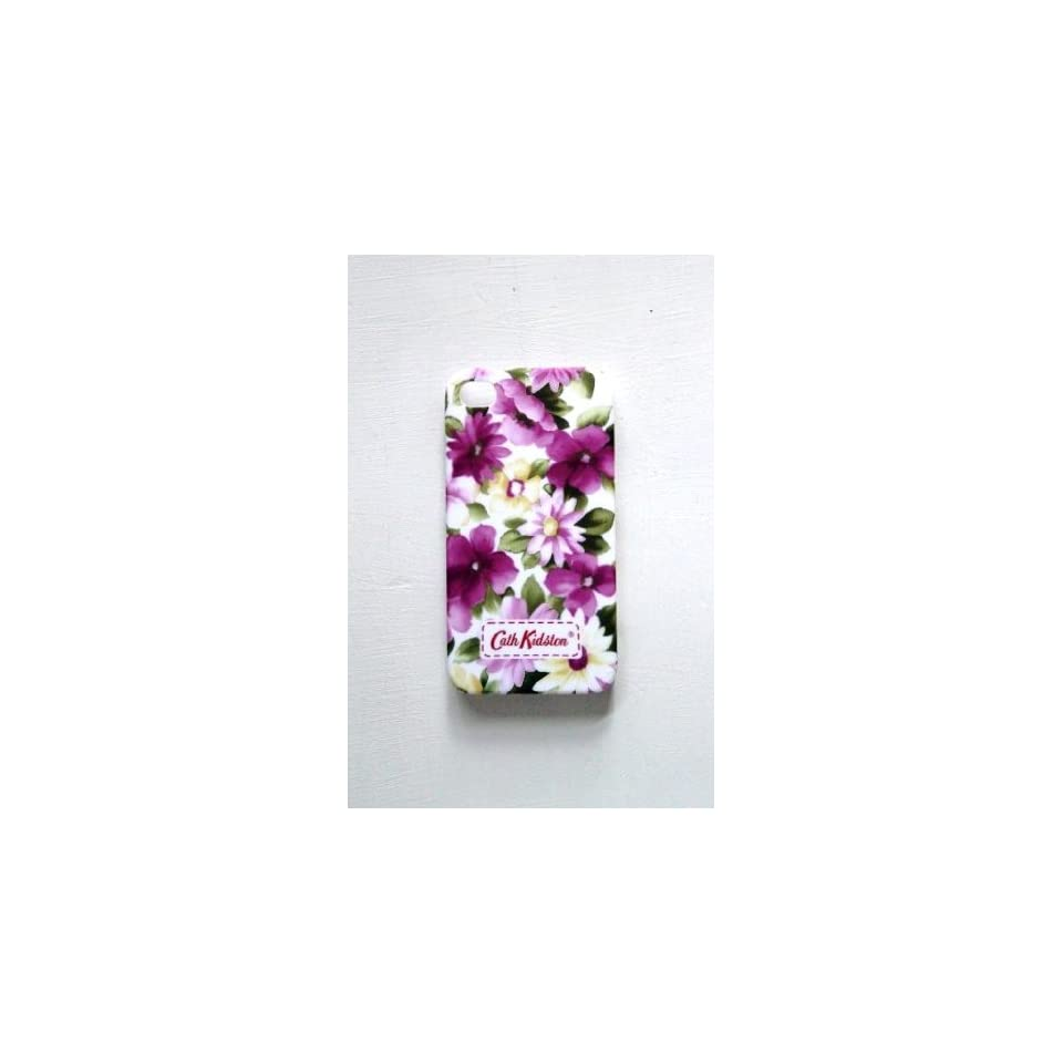 Purple Orchid Flower Spray Hard Back Case Cover for iPhone 4