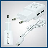 Micromax A092 Unite Compatible Charger Dual USB 2AMP AC Power Charger