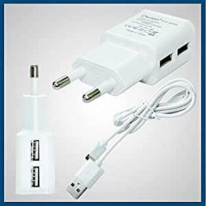 Karbonn A307 Compatible Charger Dual USB 2AMP AC Power Charger