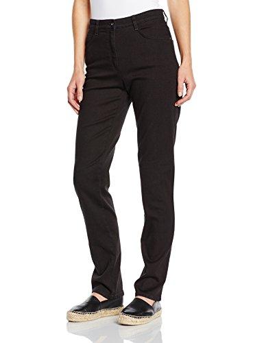 Brax Damen Straight Leg Jeanshose 70-3000, CAROLA, Gr. W36/L34 (Herstellergröße: 46L), Schwarz (CLEAN BLACK 2)