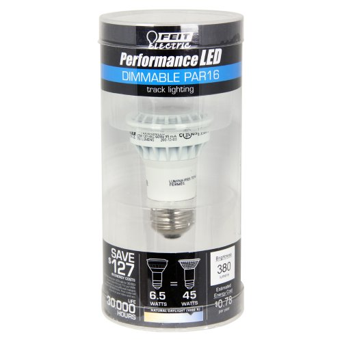 Feit Par16/Dm/5K/Led Par16 Dimmable Performance Led, 5000K, 45W Equivalent